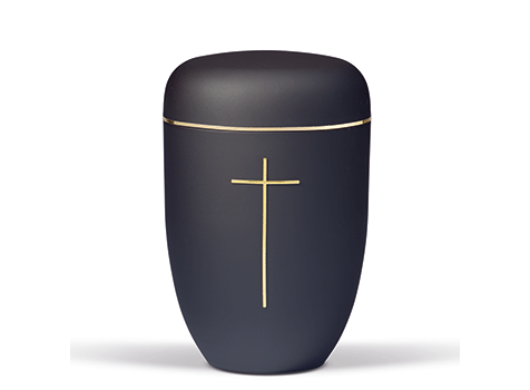 bestle urne sort med kors